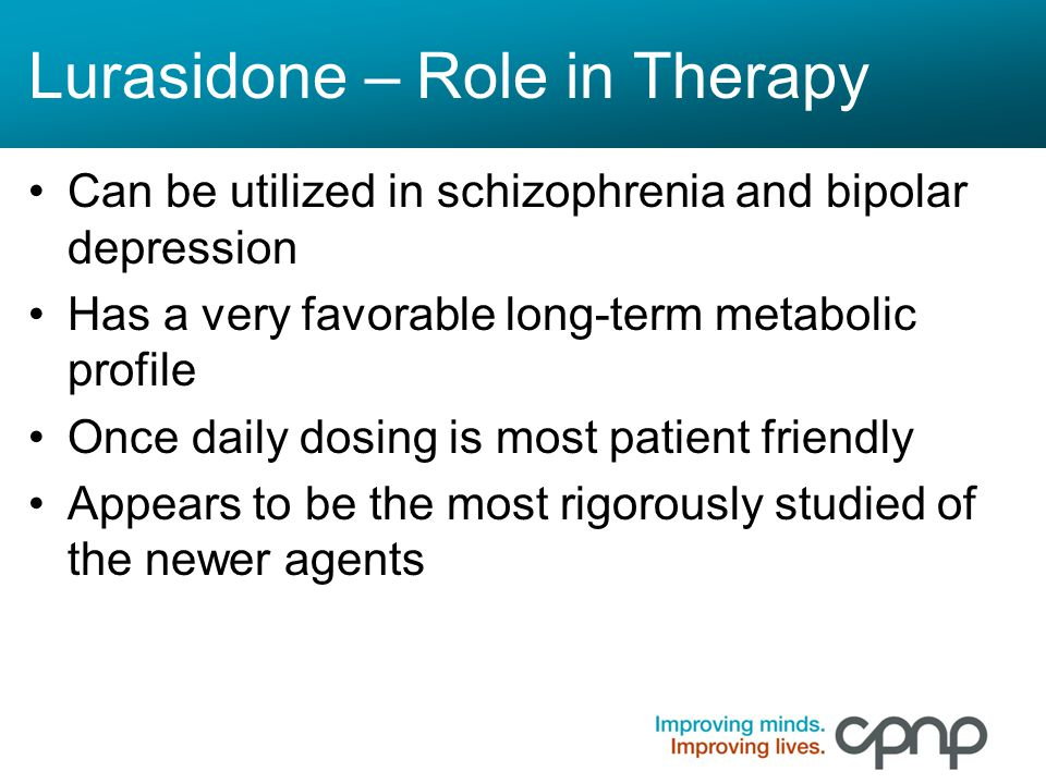 Lurasidone – Role in Therapy