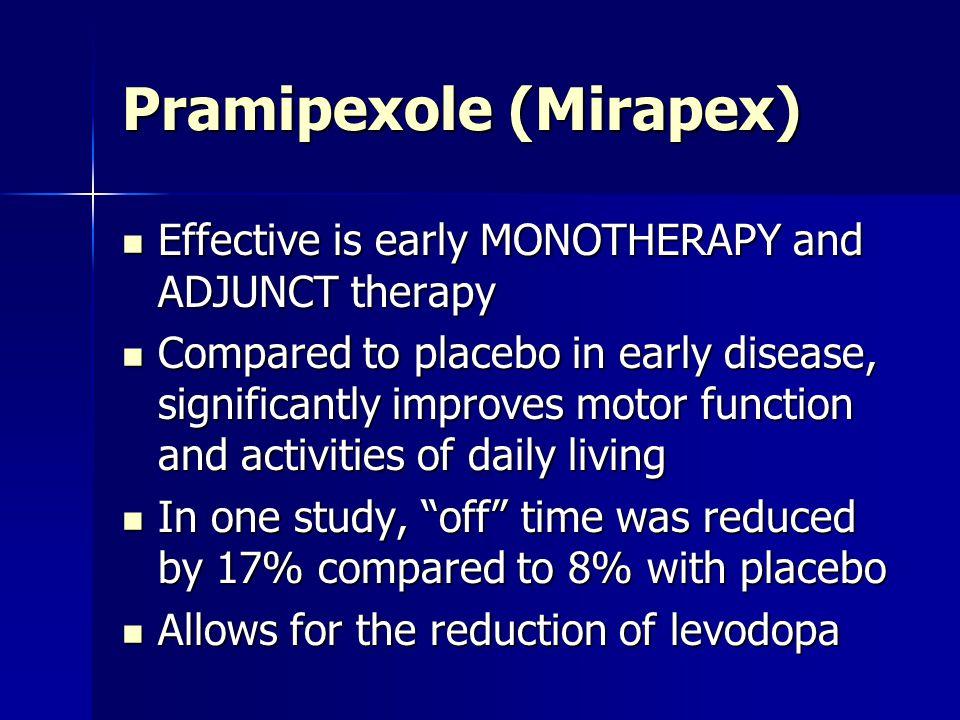 Pramipexole (Mirapex)