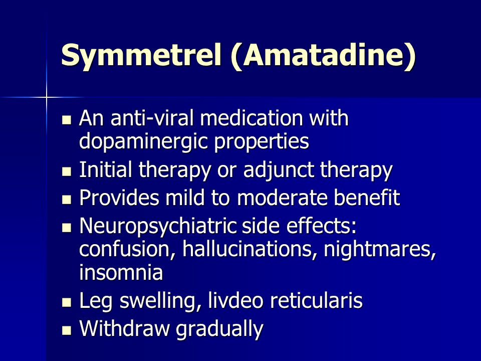Symmetrel (Amatadine)
