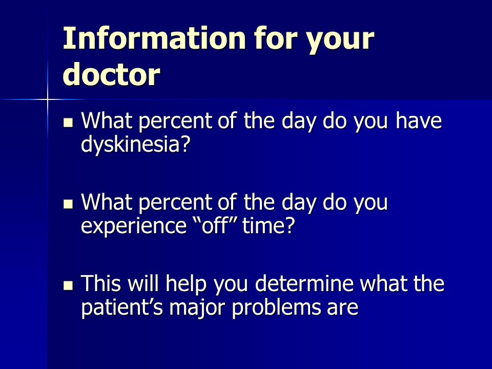 Information for your doctor