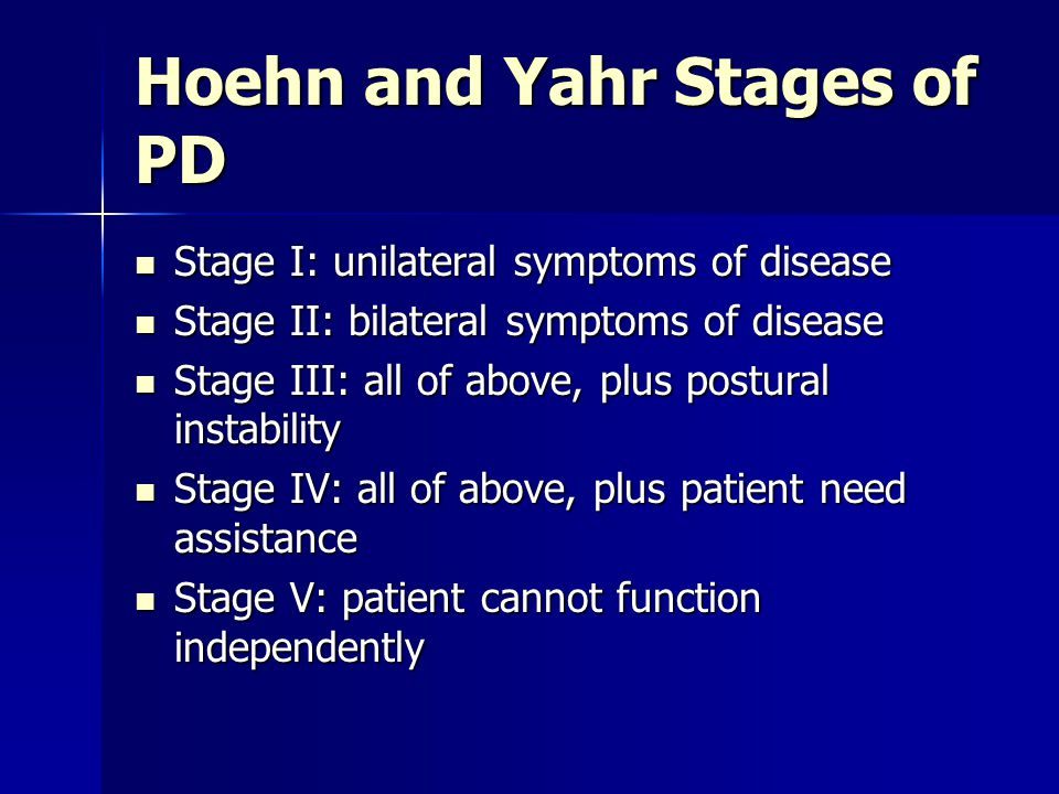 Hoehn and Yahr Stages of PD