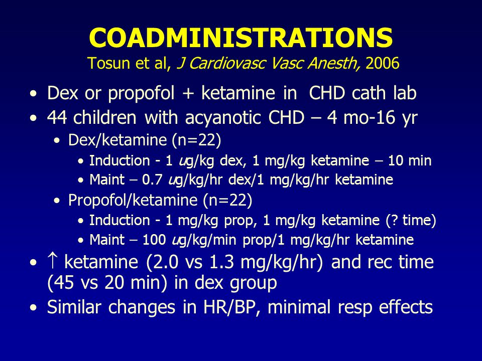 COADMINISTRATIONS Tosun et al, J Cardiovasc Vasc Anesth, 2006