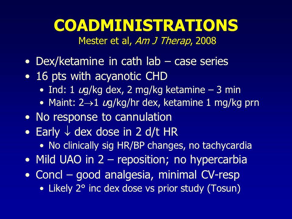 COADMINISTRATIONS Mester et al, Am J Therap, 2008
