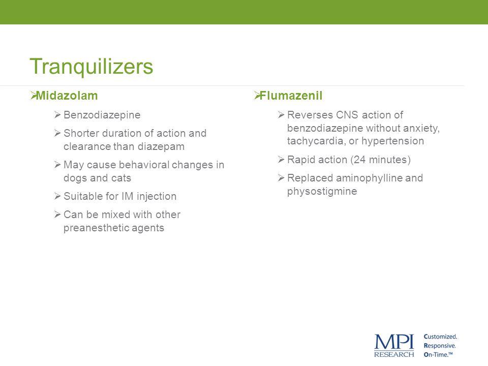 Tranquilizers Midazolam Flumazenil Benzodiazepine