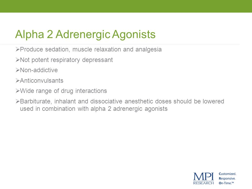 Alpha 2 Adrenergic Agonists