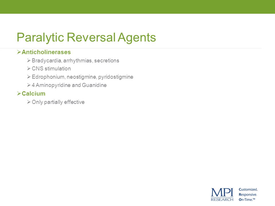 Paralytic Reversal Agents