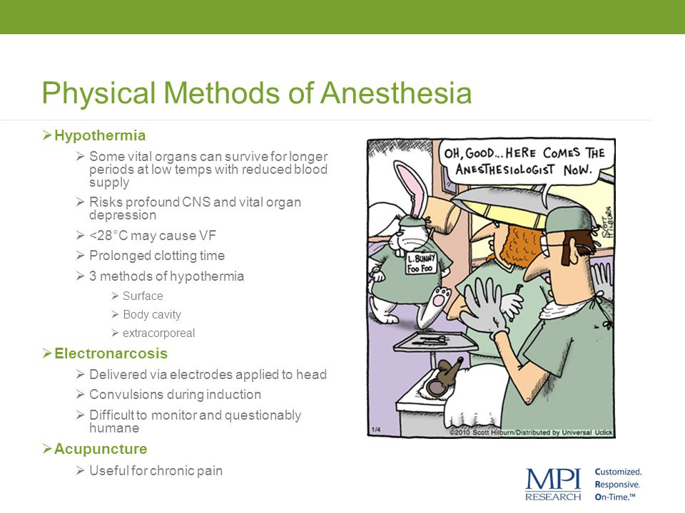 Physical Methods of Anesthesia