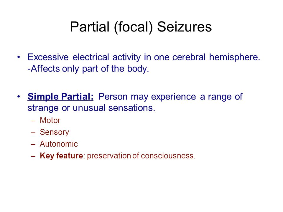 Partial (focal) Seizures