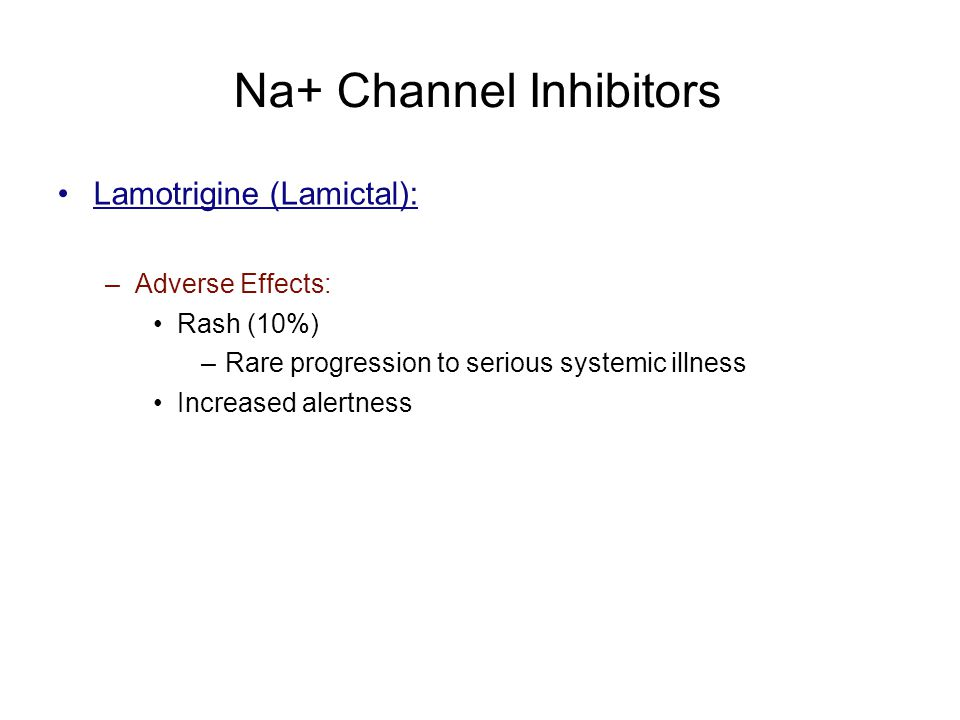 Na+ Channel Inhibitors