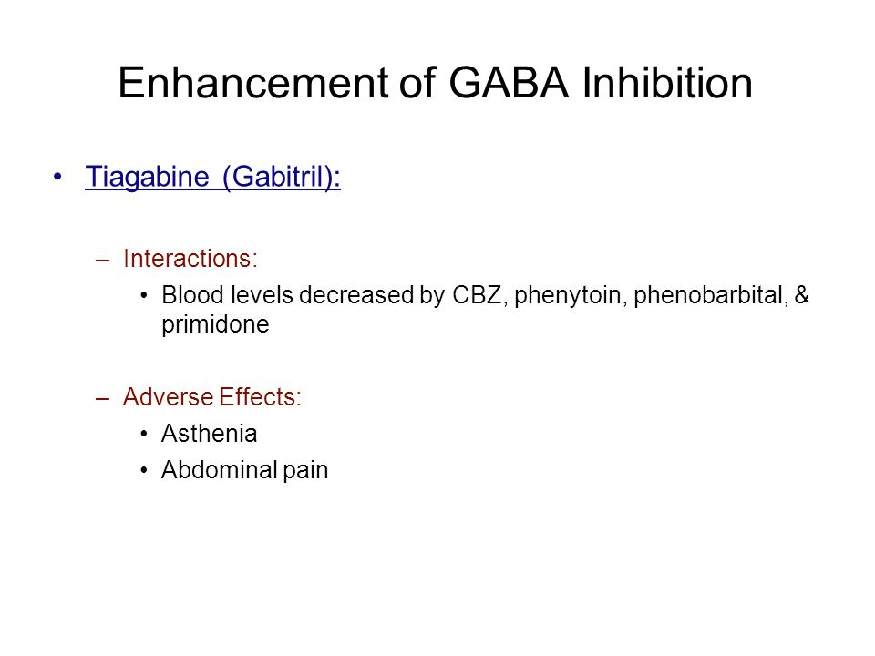 Enhancement of GABA Inhibition