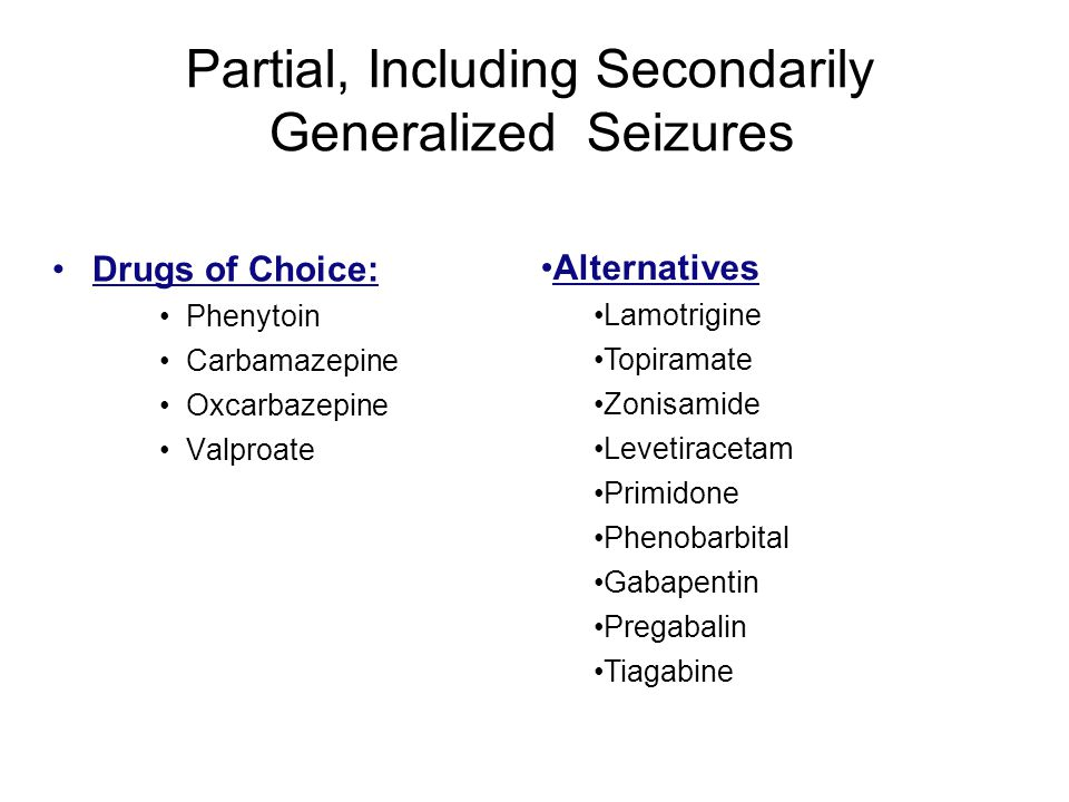 Partial, Including Secondarily Generalized Seizures