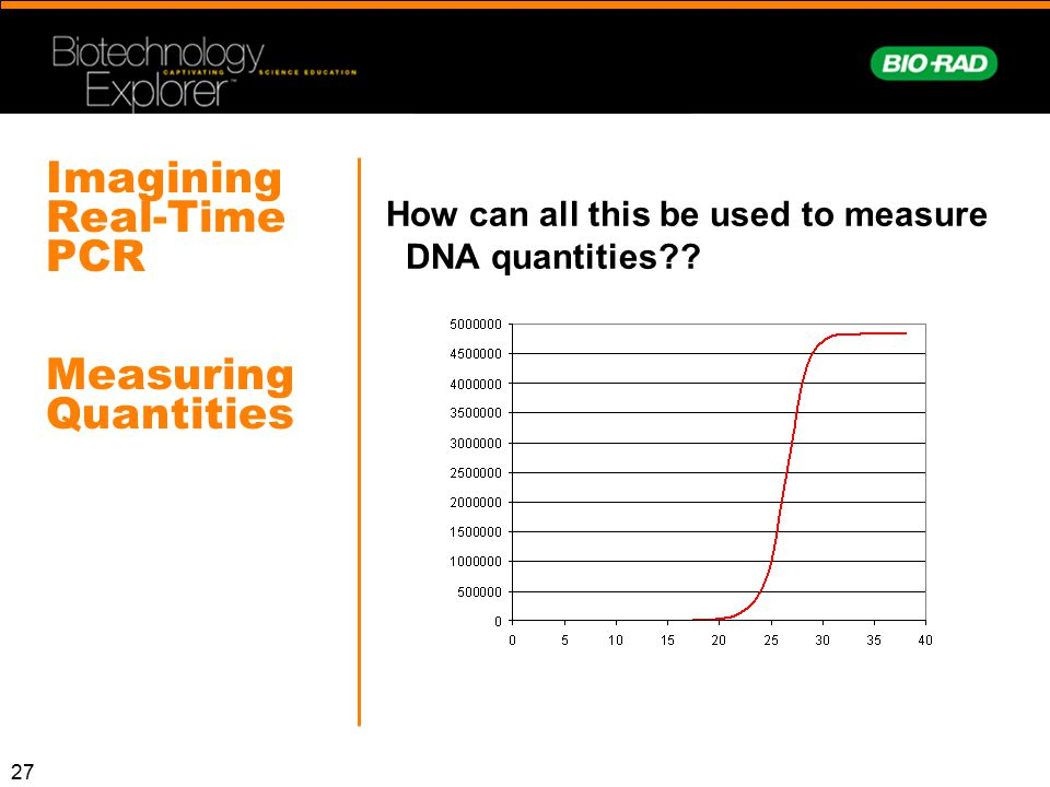 Imagining Real-Time PCR Measuring Quantities