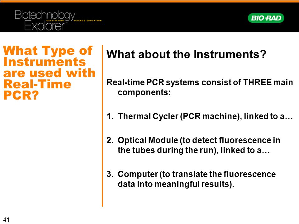 What Type of Instruments are used with Real-Time PCR
