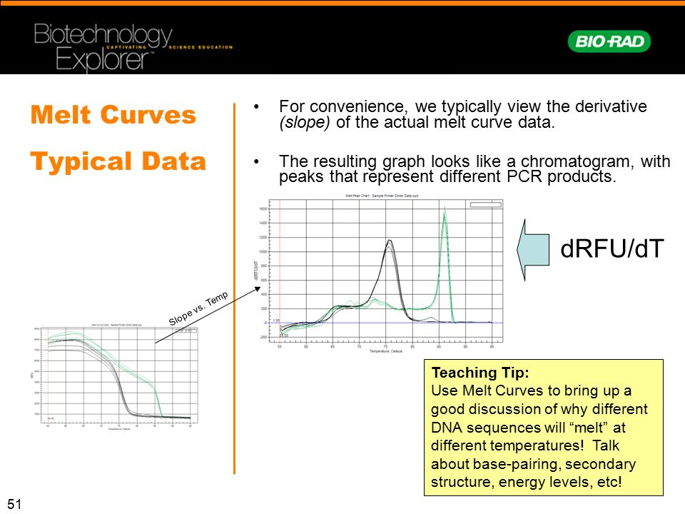 Melt Curves Typical Data