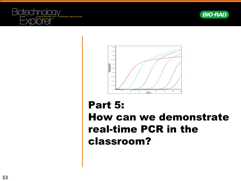 Part 5: How can we demonstrate real-time PCR in the classroom