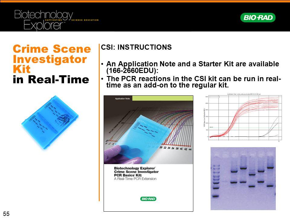 Crime Scene Investigator Kit in Real-Time