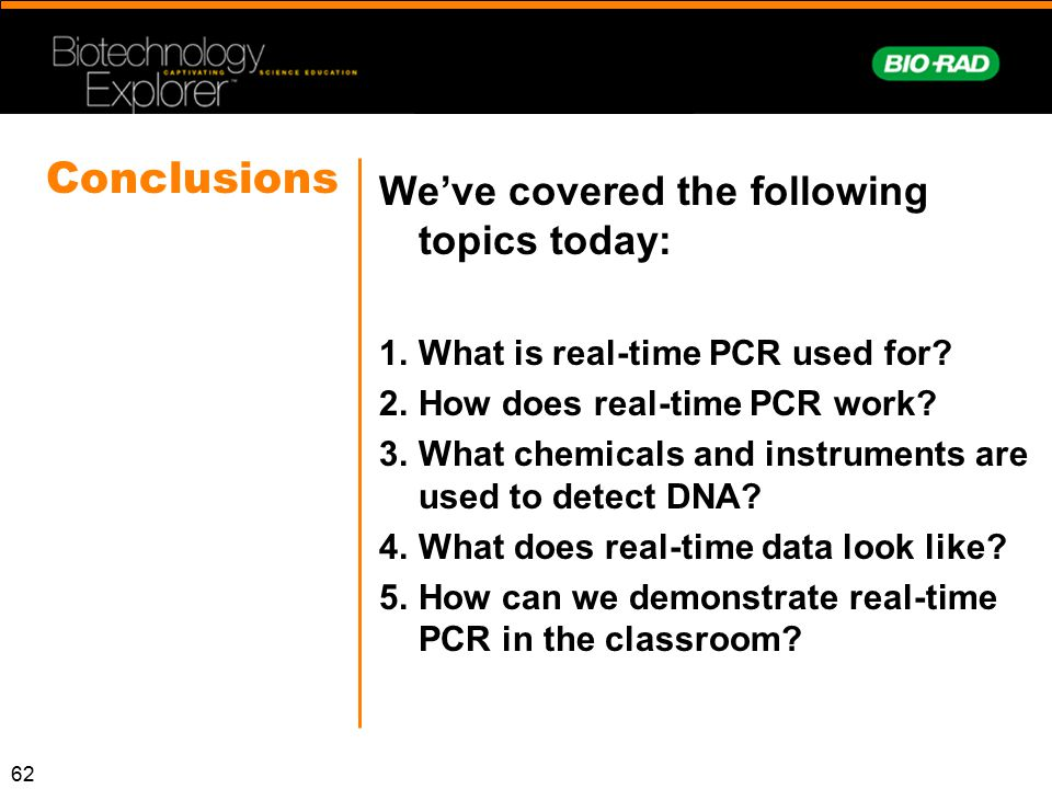 Conclusions We've covered the following topics today: