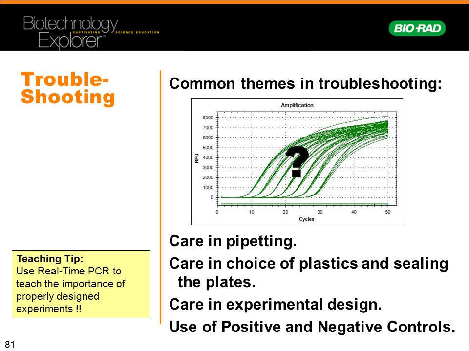 Trouble-Shooting Common themes in troubleshooting: