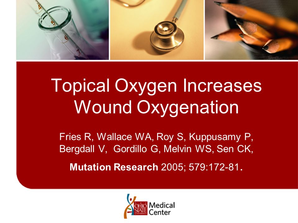 Topical Oxygen Increases Wound Oxygenation