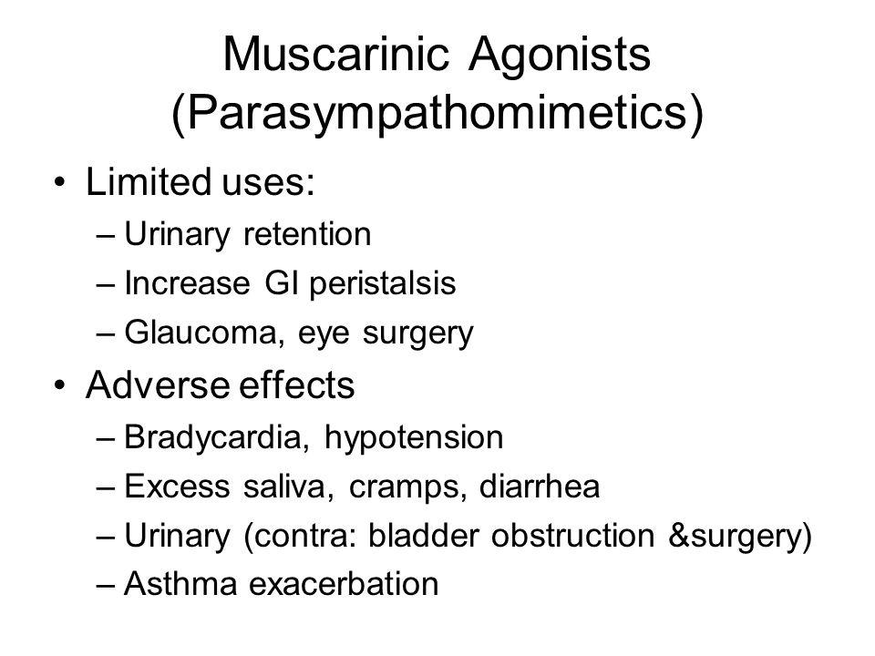 Muscarinic Agonists (Parasympathomimetics)