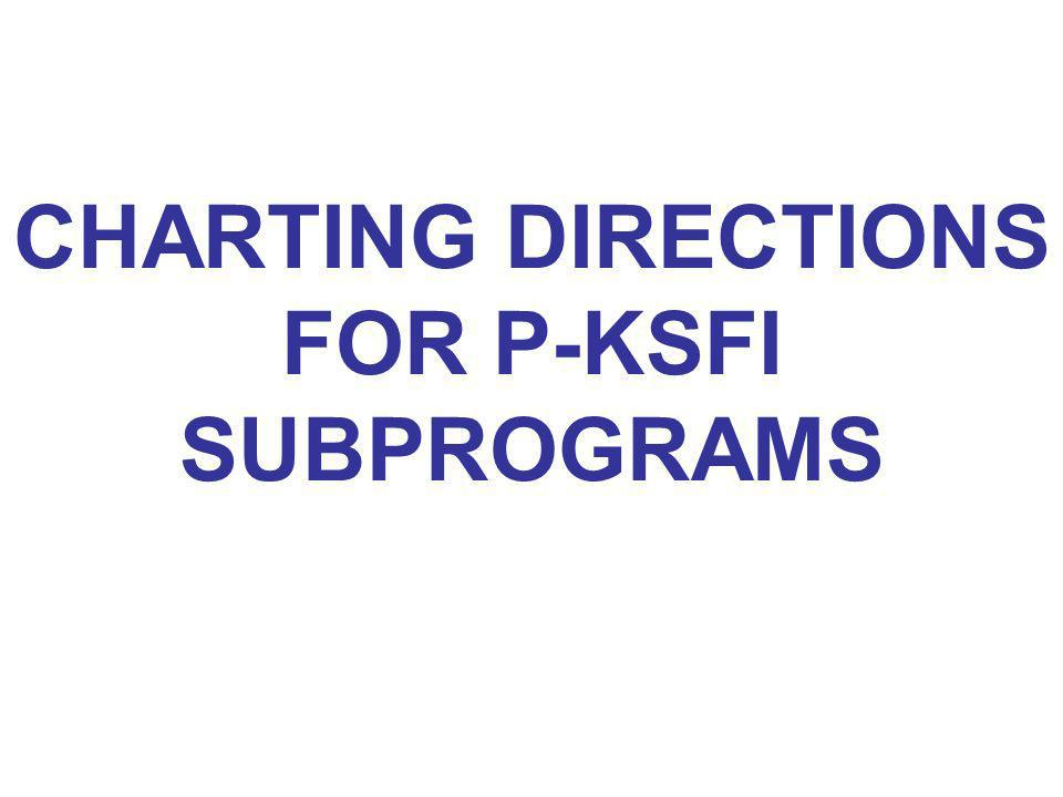 CHARTING DIRECTIONS FOR P-KSFI SUBPROGRAMS