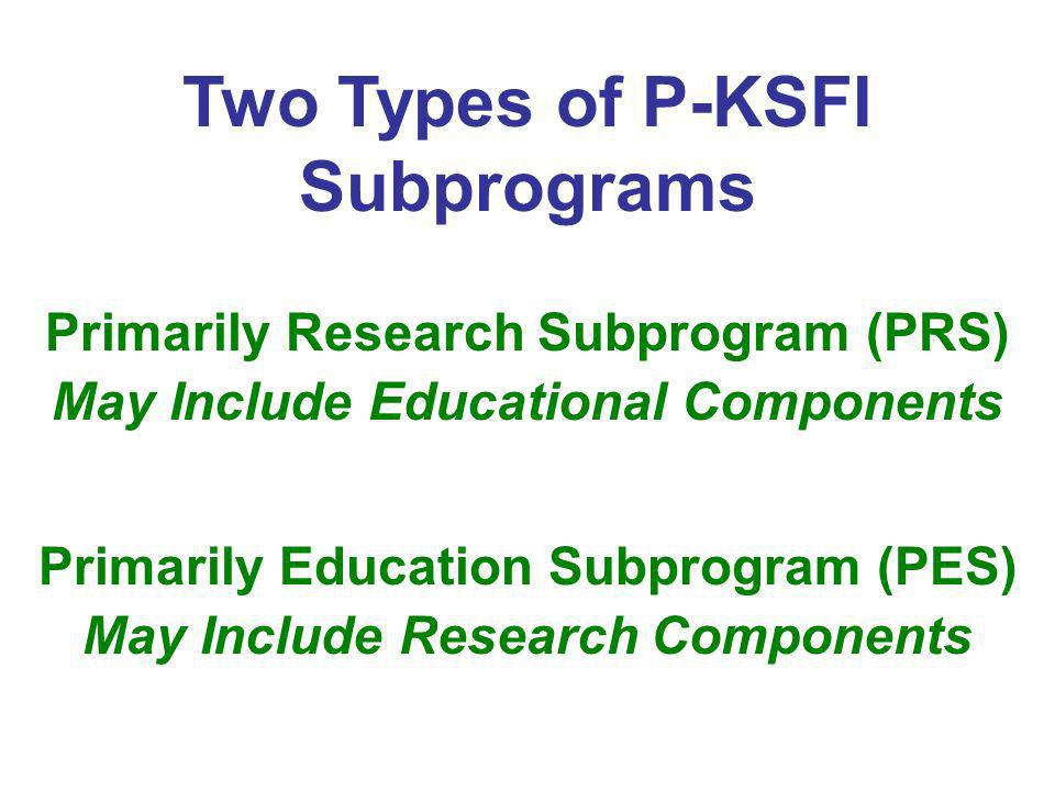 Two Types of P-KSFI Subprograms