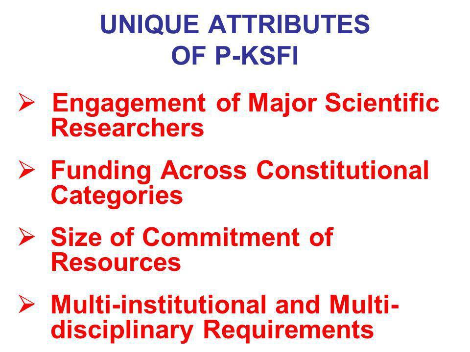 UNIQUE ATTRIBUTES OF P-KSFI