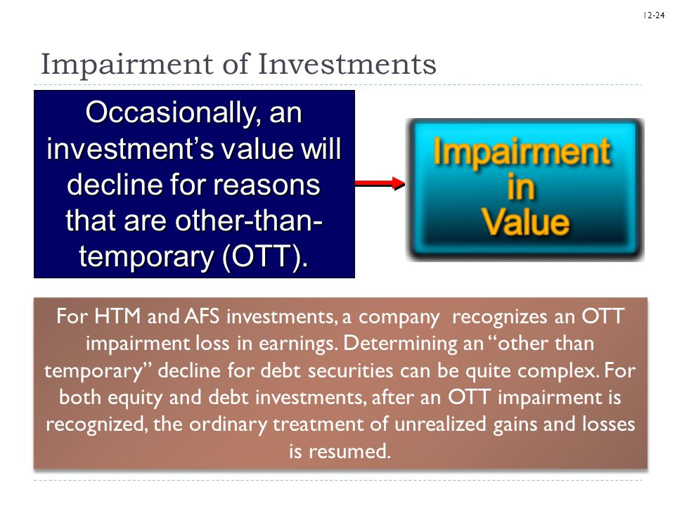 other than temporary impairment otti essay To the point fasb issues sweeping changes to credit loss guidance updated 27 july 2016  today under the other-than-temporary impairment ( otti) model.
