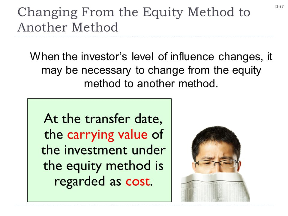 Changing From the Equity Method to Another Method