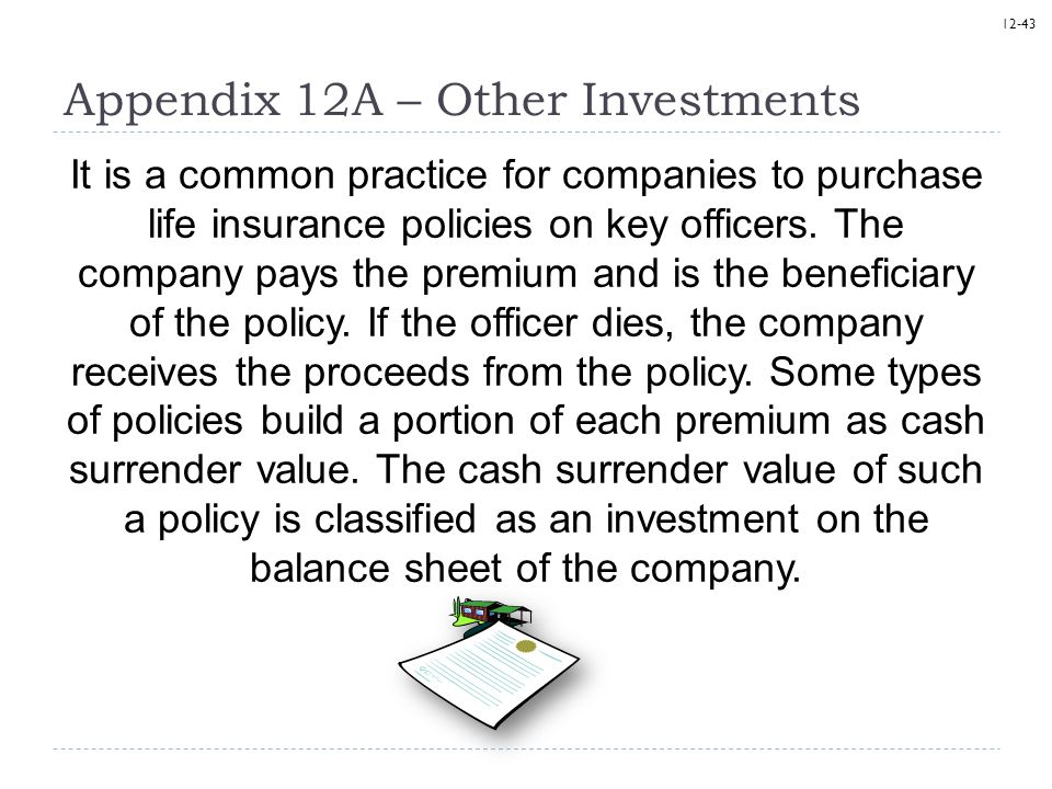Appendix 12A – Other Investments