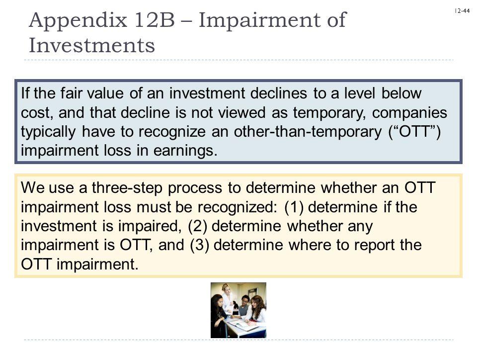 Appendix 12B – Impairment of Investments