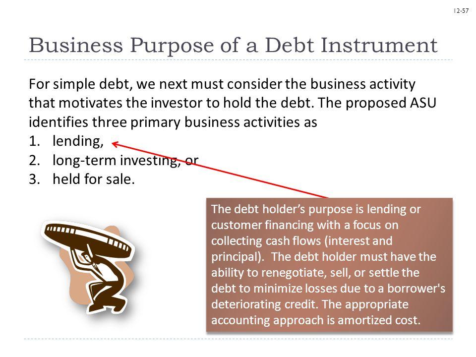 Business Purpose of a Debt Instrument