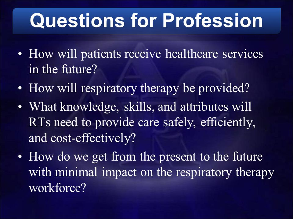 Questions for Profession