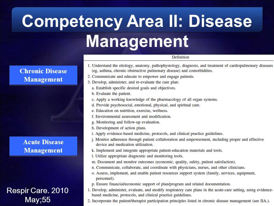 Competency Area II: Disease Management