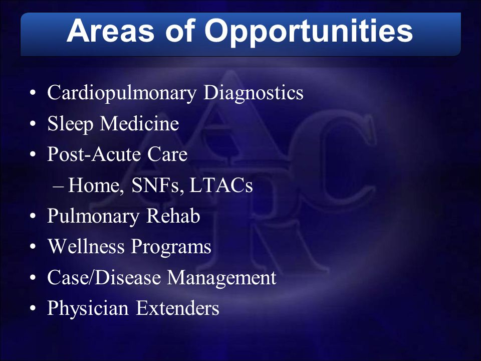 Areas of Opportunities