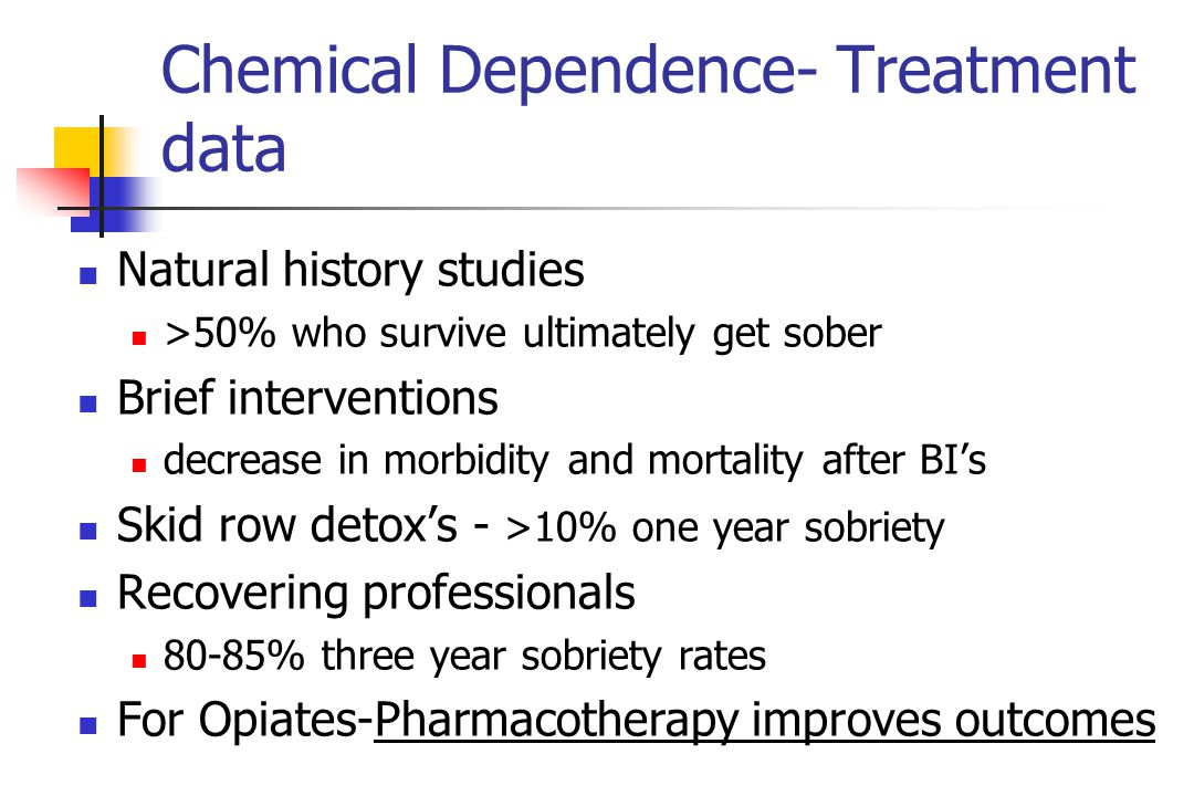 Chemical Dependence- Treatment data