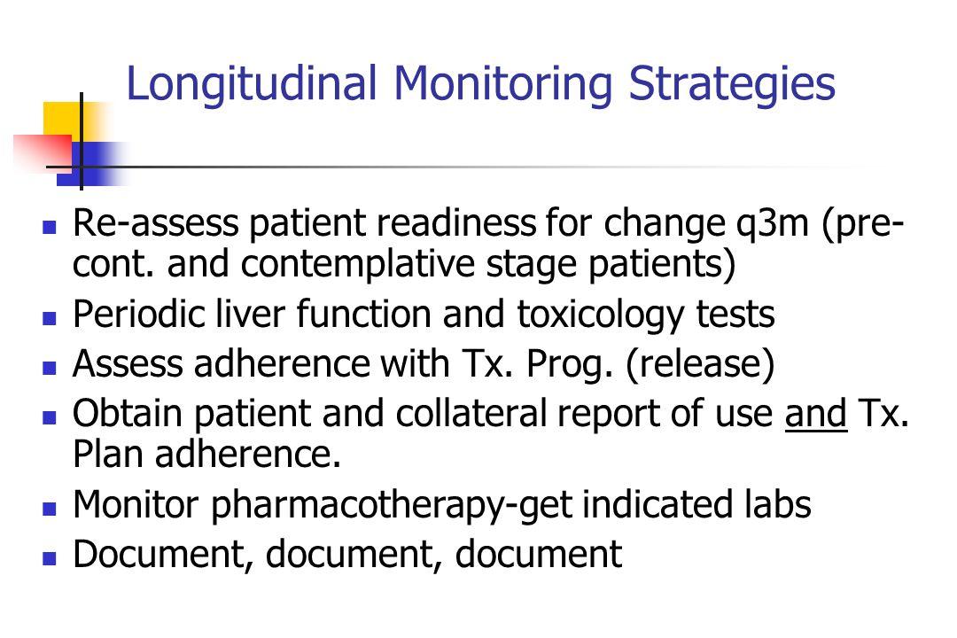 Longitudinal Monitoring Strategies