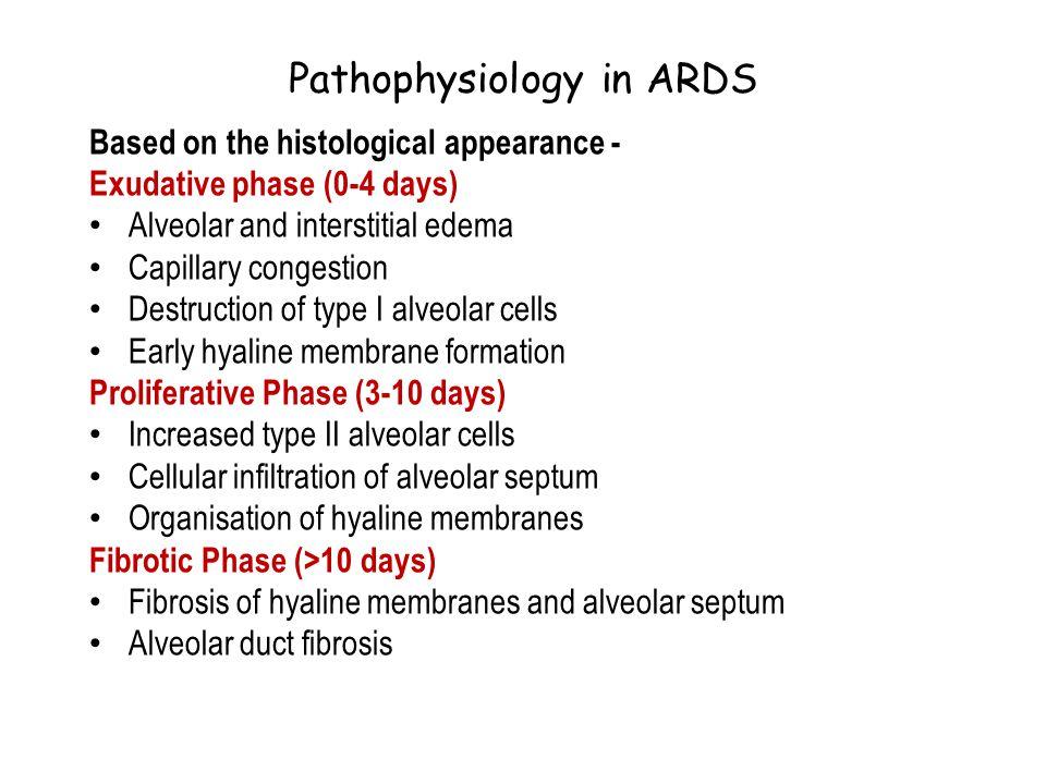 Pathophysiology in ARDS