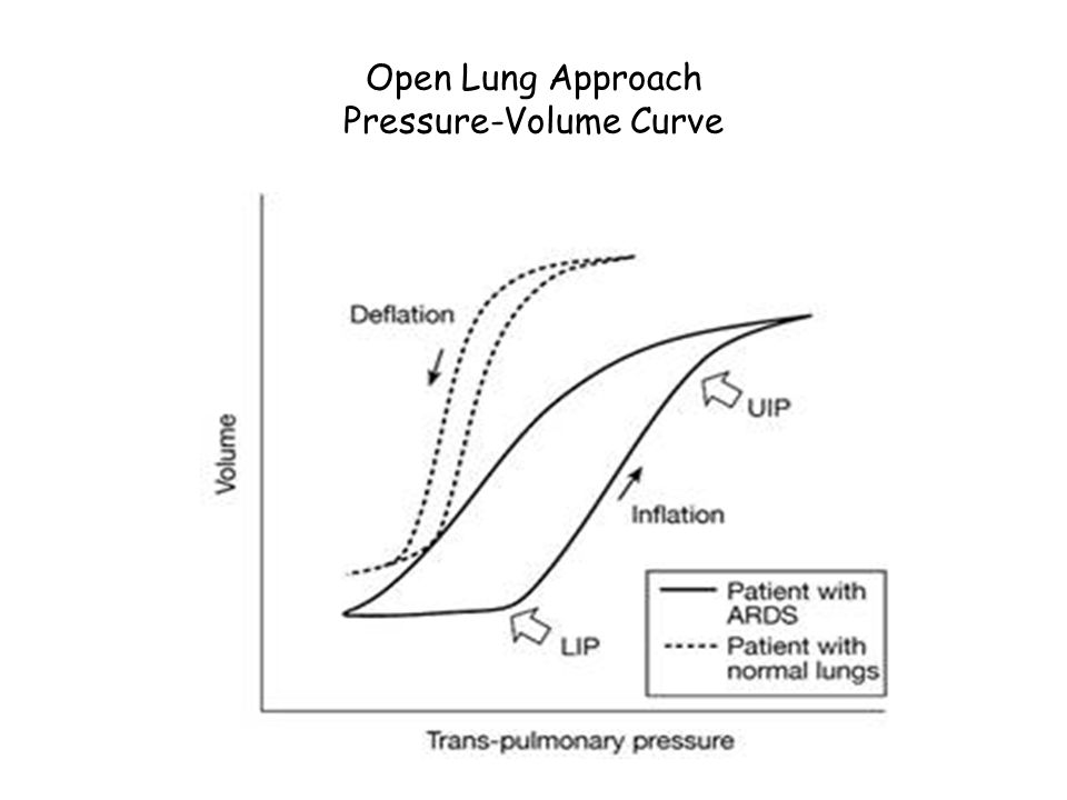 Open Lung Approach Pressure-Volume Curve