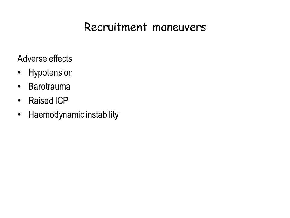 Recruitment maneuvers