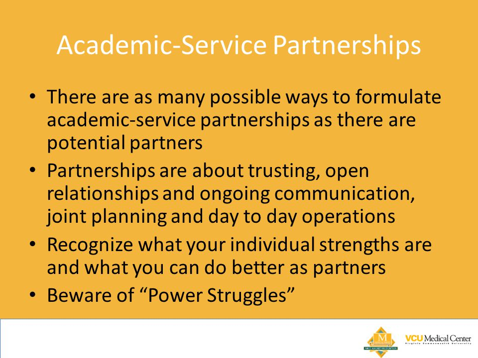 Academic-Service Partnerships