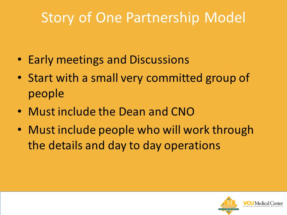 Story of One Partnership Model