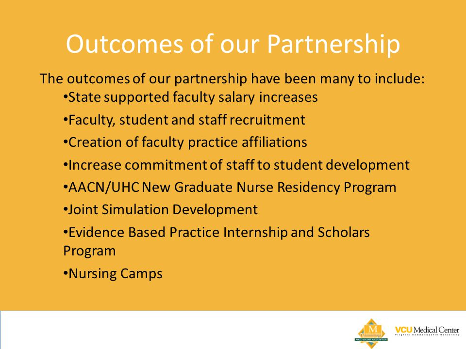 Outcomes of our Partnership