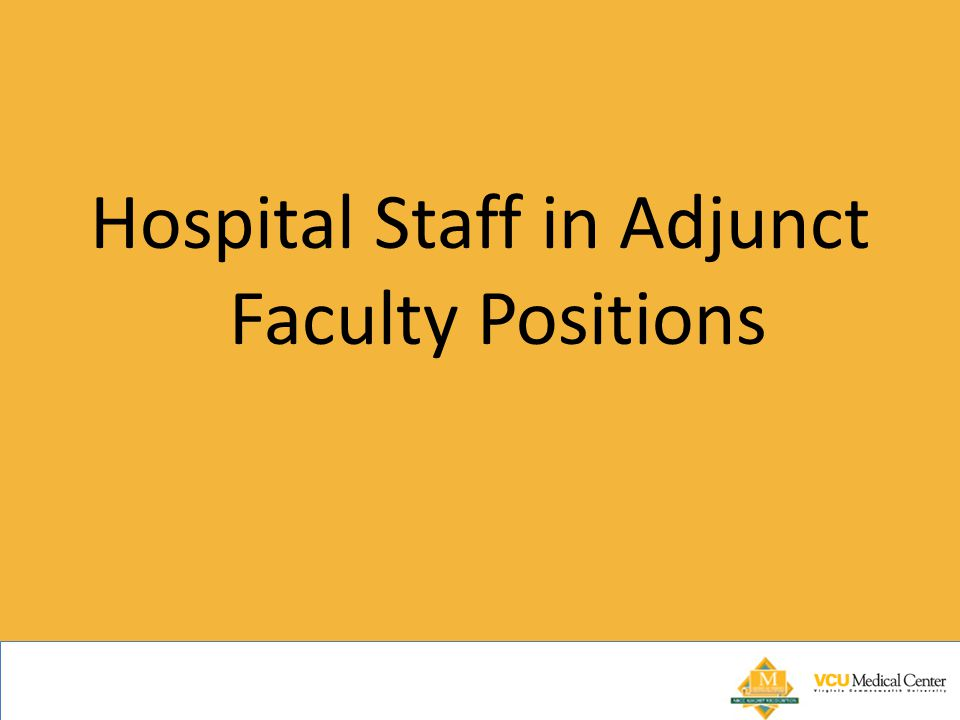 Hospital Staff in Adjunct Faculty Positions