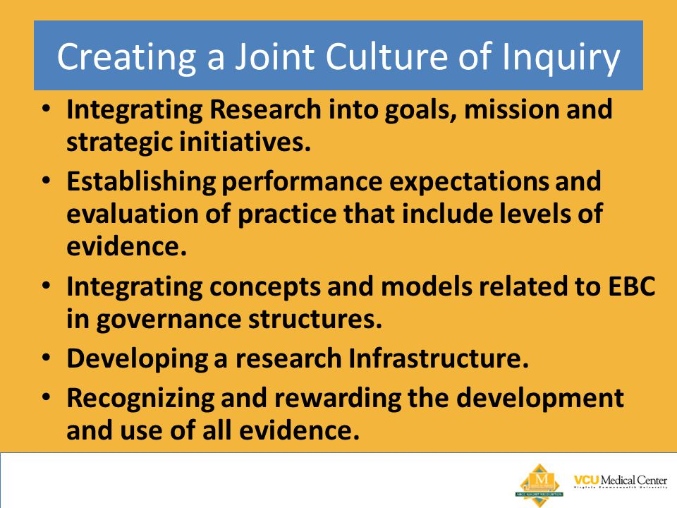 Creating a Joint Culture of Inquiry