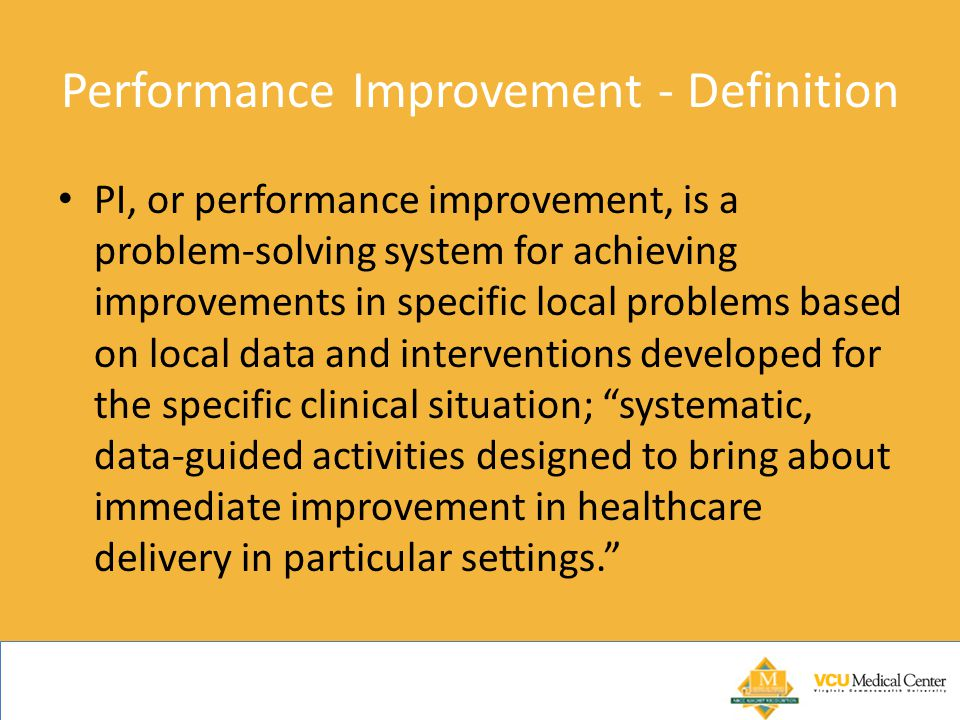 Performance Improvement - Definition