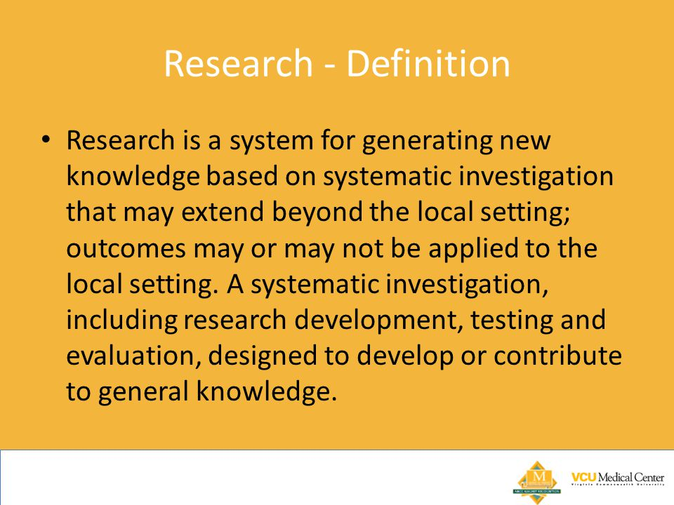 Research - Definition