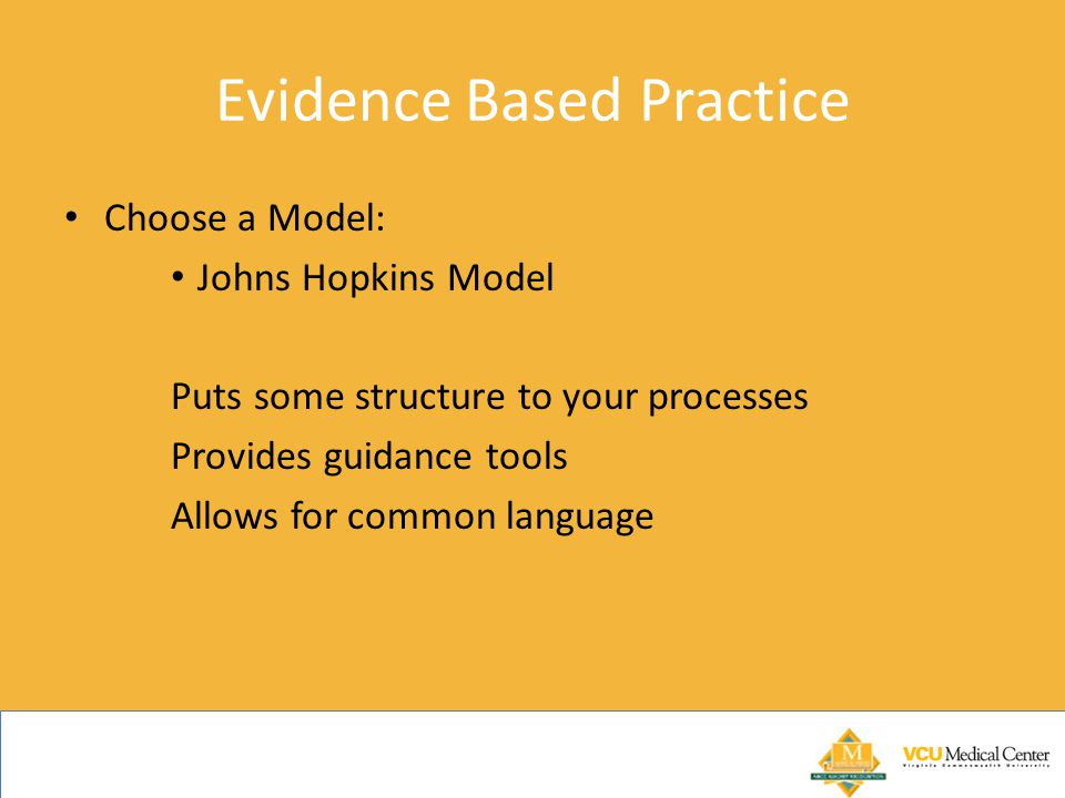 Evidence Based Practice