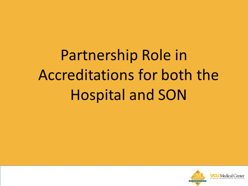 Partnership Role in Accreditations for both the Hospital and SON