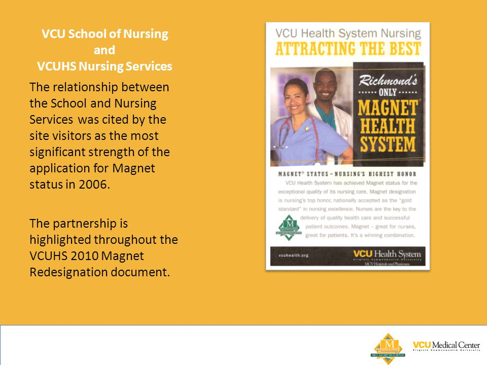 VCU School of Nursing and VCUHS Nursing Services